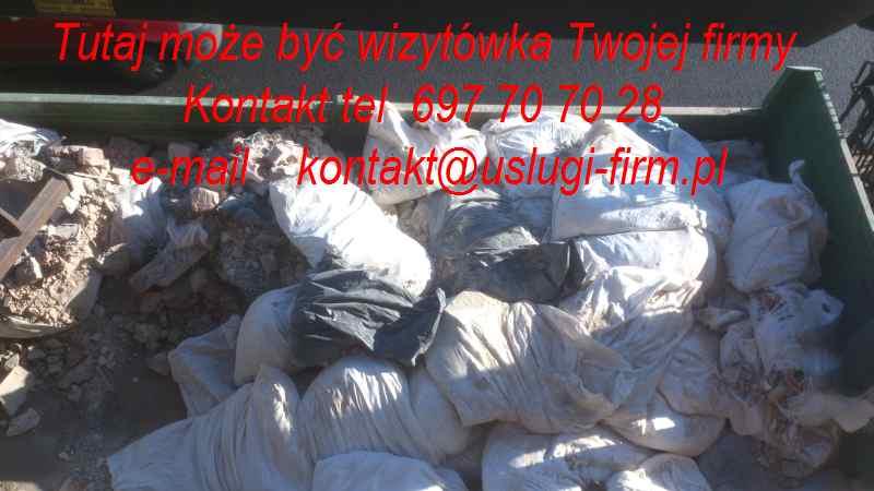 wywóz śmieci pobudowlanych Pabianice